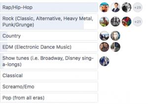 music genre poll